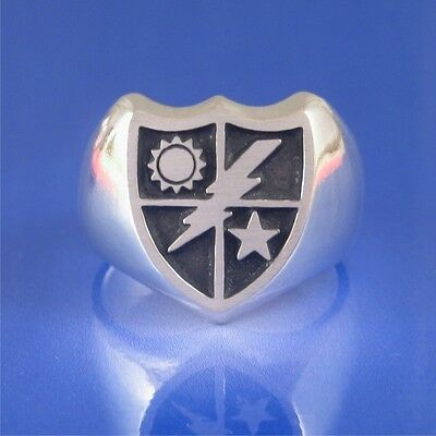 Army Ranger 75th Ranger Rgt Ring Solid Sterling Silver - Size 8 to 13  (#751)