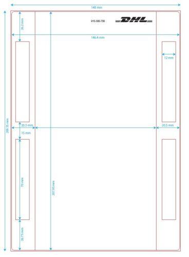 500 DHL DIN A5 Versandetiketten selbstklebend Etiketten Label Paket Päckchen NEU