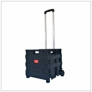 Foldable-Shopping-Cart-Wheels-Transit-Utility-Cart-Basket-Grocery-Cart-Trolley