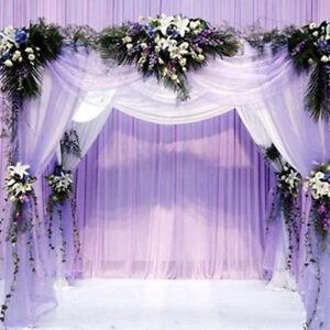 33ft 10m Wedding Backdrop Gauze Curtain Wedding Party Venus Decor