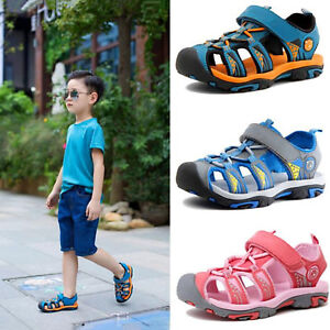 5b237c1b64ec5d Summer Beach Boys Kids Toddler Sandals Closed Toe Athletic Outdoor ...