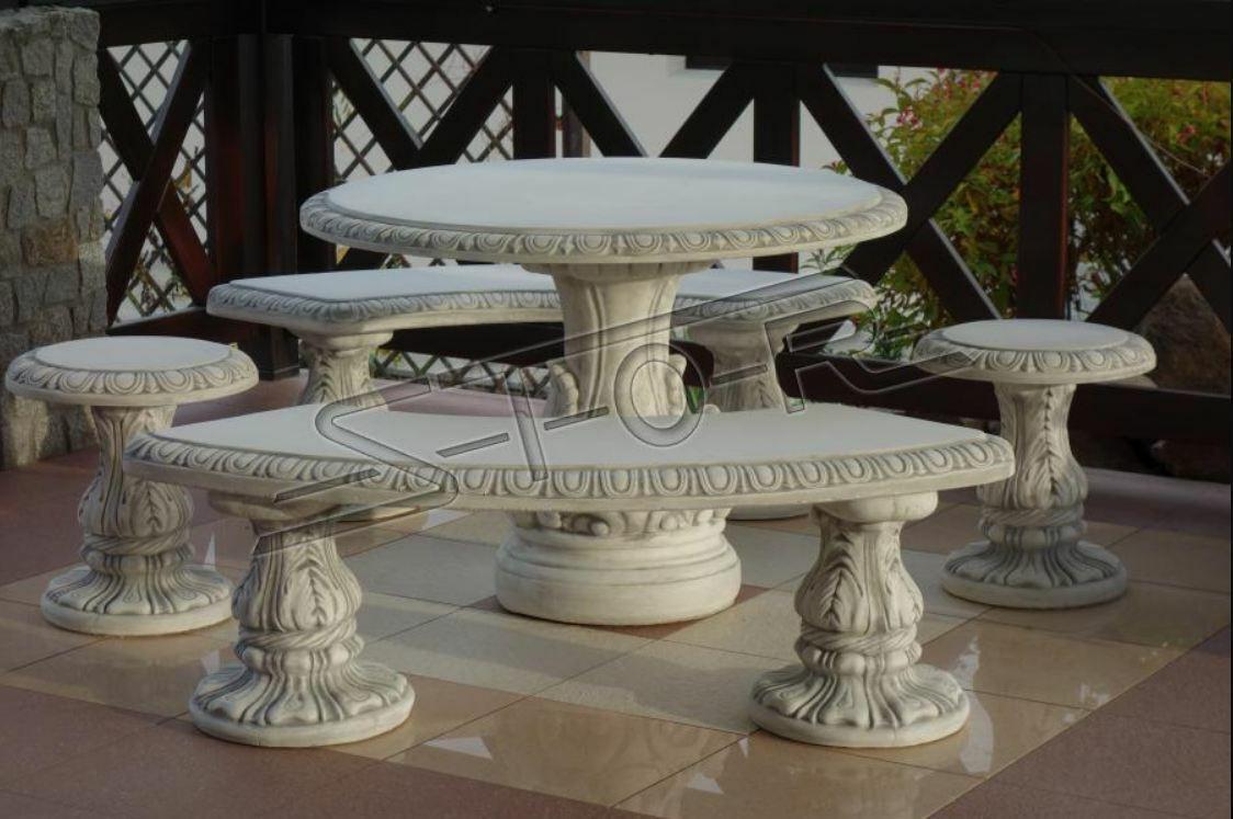 Tavolo pietra terrazzo giardino mobili decorazione elegante stile antico design tavoli NUOVO 205004