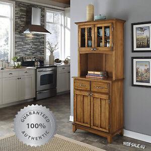 kitchen buffet hutch solid wood server storage cabinet