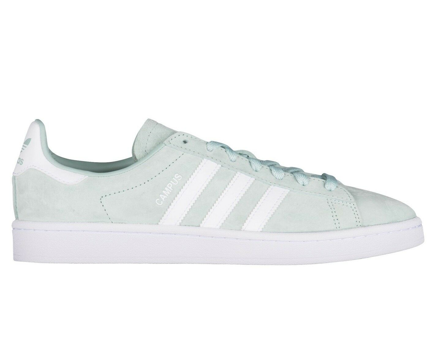 Adidas Campus Mens DB0982 Ash Green White Nubuck Suede Athletic shoes Size 9.5