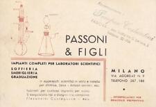 A1750) MILANO, PASSONI E FIGLI, IMPIANTI PER LABORATORI SCIENTIFICI.