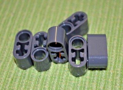 Light Gray #2 6 +O Thick Technic Oval Beam ~ NEW ~ Lego