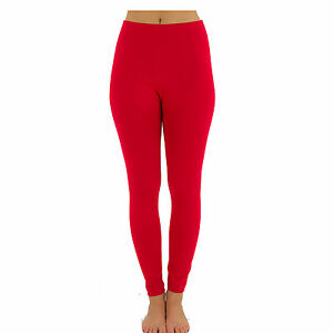 6acb720f93c0b Image is loading Thick-Winter-Pants-Leggings-High-Quality-Red-Polyester-