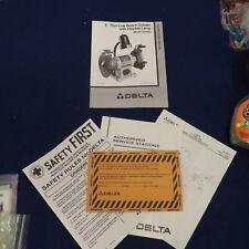 Delta Shopmaster 23 589 Bench Grinder Instruction Owners Manual For