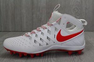 29 Nike Men's Huarache V Lax Football/Lacrosse Cleats 807142-161 Men's Sz 12 Red