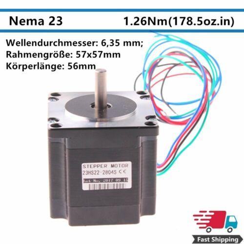 Nema 23 Schrittmotor 1.26N·m 2.8A 3.6V 56mm 4-Draht 1.8° Stepper Motor mit Draht