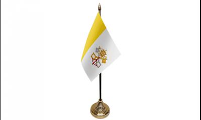 12 Stück Vatikanstadt (15.2cm X 10.2cm) Tisch Flaggen & Gold Plastik Kegel