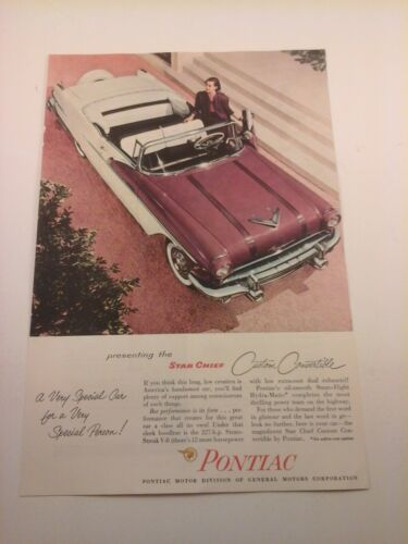 Vtg RARE /& HTF 1950/'s /'60/'s Car ADS Advertising PONTIAC All Models You choose!