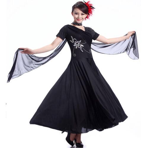 Latin Ballroom Competition Dance Dress Modern Waltz Tango Standard Dress#NN002