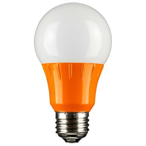 E26 SUNLITE 80147-SU LED A19 Colored 3w Light Bulb Medium Base Orange
