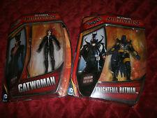 DC COMICS MULTIVERSE BATMAN ARKHAM ORIGINS SET OF 2 KNIGHTFALL BATMAN & CATWOMAN