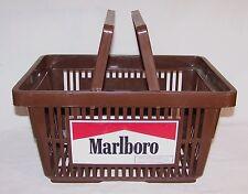 Marlboro Shopping Basket Brown Plastic Supermarket Tobacco Advertising