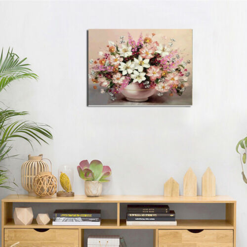 Full Drill DIY Color Potted Plants 5D Diamond Painting Crystal Kit Decor 40*30cm