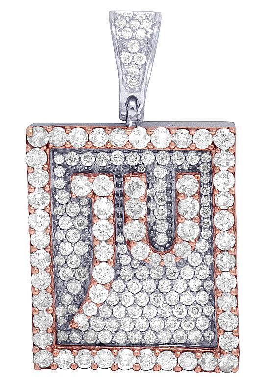 Mens JU Jewelry Unlimited Signature Diamond Pendant 10K gold Two Tone 3.5CT 1.3