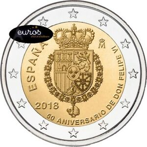 Piece-2-euros-commemorative-ESPAGNE-2018-Anniversaire-du-Roi-FELIPE-VI-UNC