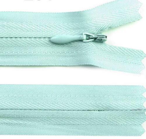 Cremallera 18cm Zipper cremalleras elección de color oculta einzunähen Invisibl