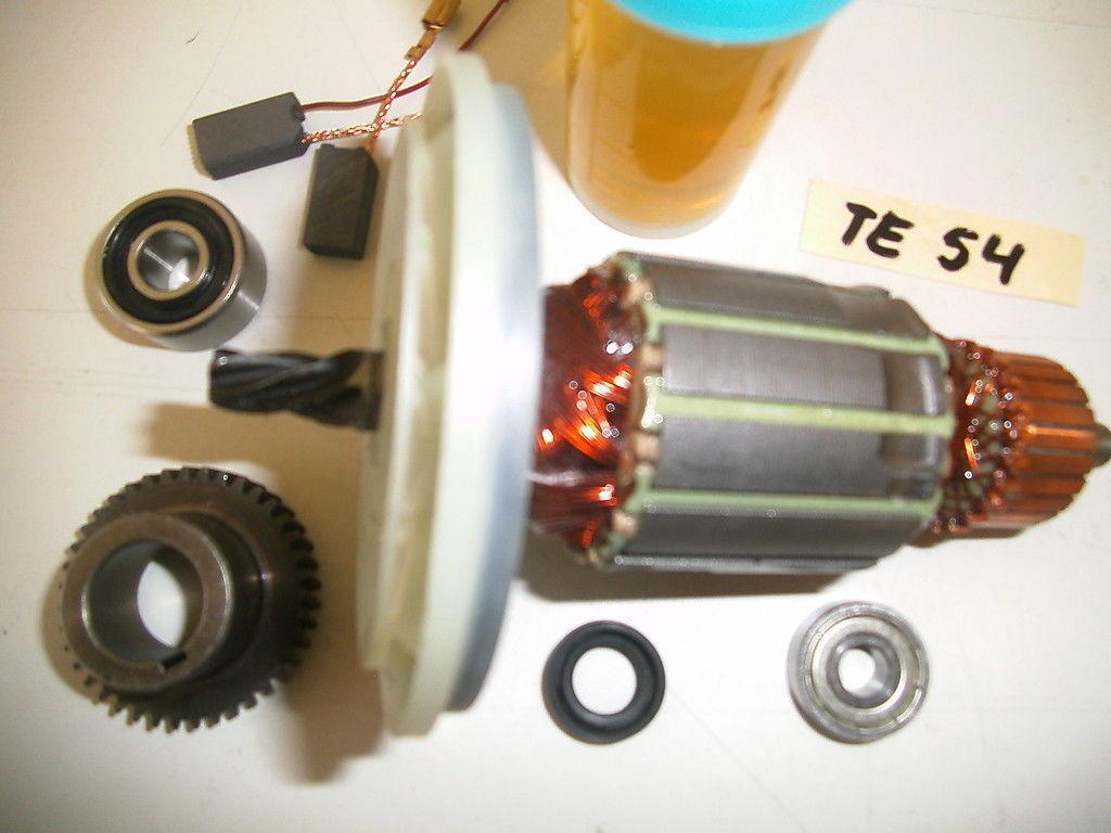 Hilti TE 54 Rotor, Anker+Exzenter Zahnrad mit Nut+ Lagern+ WDR + Kohle