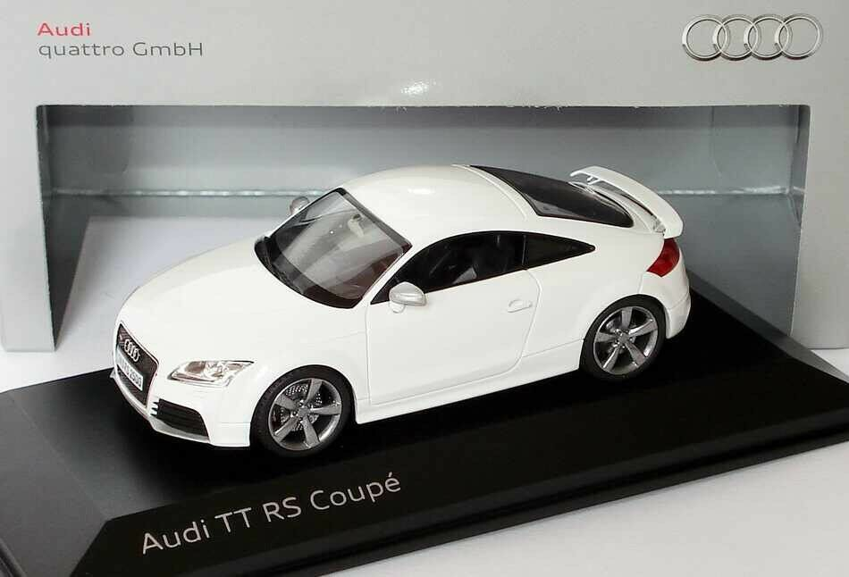 VERY RARE AUDI TT RS TTRS 8J COUPE QUATTRO IBIS WHITE 1 43 SCHUCO (DEALER MODEL)