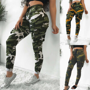 designer fashion purchase genuine sale retailer Details about UK Womens High Waist Camouflage Joggers Trousers Ladies  Casual Camo Cargo Pants