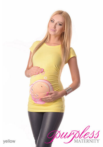 It/'s a Girl-Adorable Slogan Cotton Printed Maternity Pregnancy Top T-shirt 2001d
