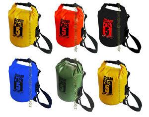 c579191e588 Karana 5 Litre Ocean Dry Pack Waterproof Kayak Shoulder Rucksack ...