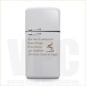 Wall stickers frase caff mattino colazione adesivo per for Stickers per mobili