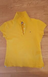 Tommy-Hilfiger-Polohemd-Damen-kurzarm-gelb-Gr-S