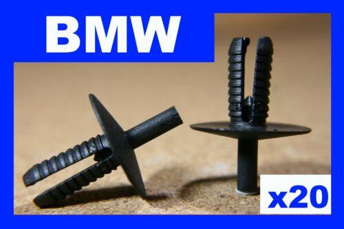 Para BMW 20 Parachoques Fascia panel de terminación rasguño rozaduras Fender Sujetador Clips