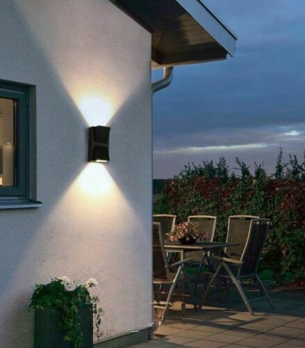 Indoor aluminum IP65 LED Garden Light Wall Mounted Curved Up and Down Outside