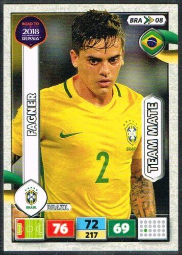 PANINI ROAD TO WORLD CUP 2018 ☆ Brésil ☆ Football Cartes #BRA01 à #BRA18