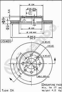 2 pièces Disque de frein BREMBO 09.5023.10