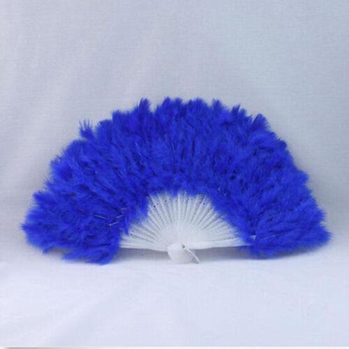 Hand Held Soft Feather Fan Burlesque 20s Flapper Wedding Ladies Fancy Dress//