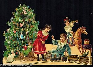 Image Is Loading SANTA TREE VICTORIAN CHILDREN PLAY TOYS CHRISTMAS GERMANY