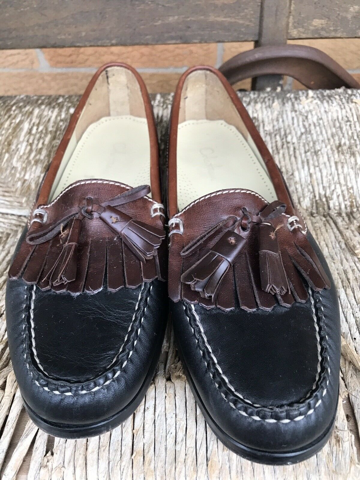 Cole Haan Tasseled Kilt Slip On Loafers 9 1 2 D Men's     Excellent PreOwned