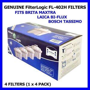 Packung zu 8 Filterlogic H-Flow Kartuschen Zum Anpassen Brita Maxtra /&