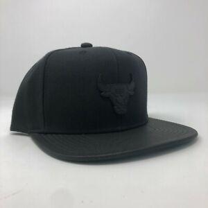 New Mitchell & Ness Chicago Bulls NBA Retro Black Adjustable Snapback Cap Hat