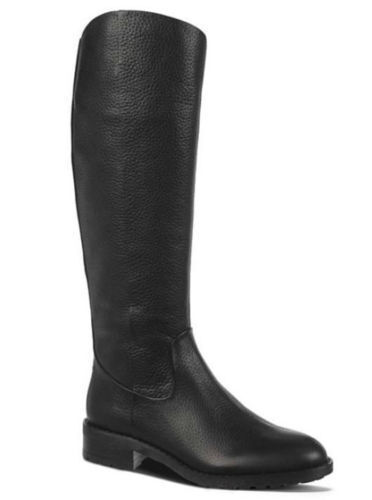 Brand New SAM EDELMAN    200 Ryan Women's Black Leather Riding Boots, Size 6 M 23b95a