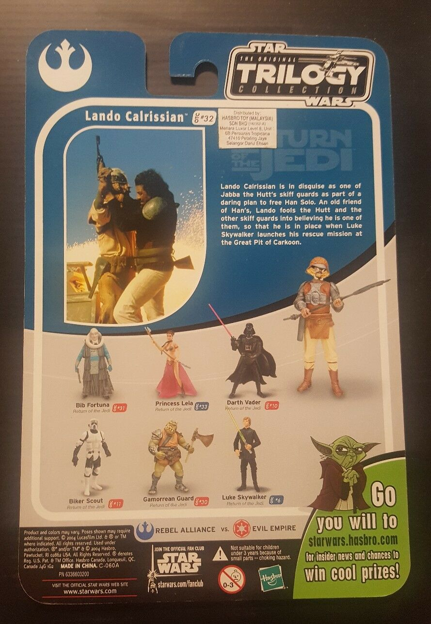 Star Wars Trilogy Collection Landing Calrissian  32 Proof Card