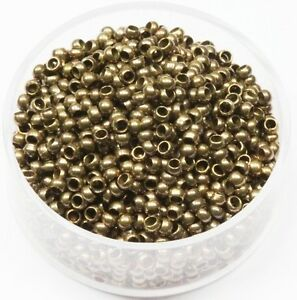 8 MM Solid Brass Round Corrugated Hollow Beads  Pkg 50 p USA