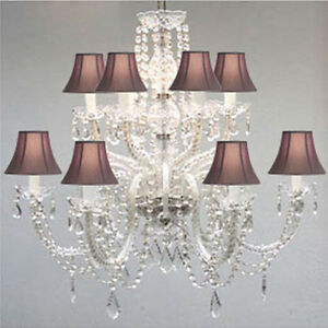 Murano Venetian Style All Crystal Chandelier With Black Crystal