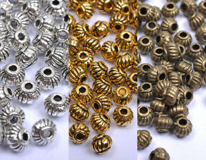Wholesale-Tibetan-Silver-amp-Gold-amp-Bronze-Charms-Spacer-Beads-5X4MM-A276
