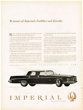 Vintage 1963 Magazine Ad Chrysler Impressive Silence of the Imperial Drive