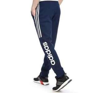 ce763436b457 Image is loading Adidas-Originals-Mens-Linear-Fleece-Jogging-Bottoms-Blue-