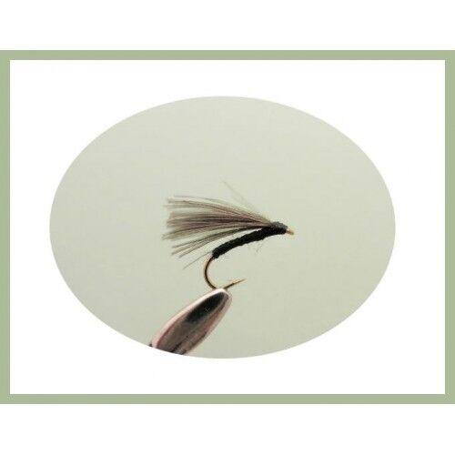 Olive F Fly choix de taille pour pêche à la mouche pack de 12 F mouches Noir /& Lièvres Oreille