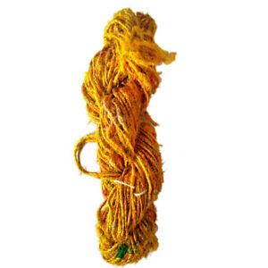 100-Grams-Handmade-Recycled-Natural-Soft-Sari-Silk-Yarn-Knit-Woven-1Skein-Diwali