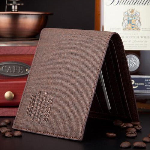 New Men's Stylish Slim Bifold Business Leather Wallet Card Holder  Purse Pockets